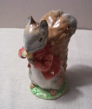 "Beswick Beatrix Potter ""TIMMY TIPTOES"" Figurine Bp2a Gold Oval Very RARE!"