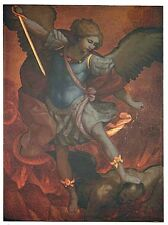 St Michael the Archangel Plaque (TC344) NEW Made of Wood