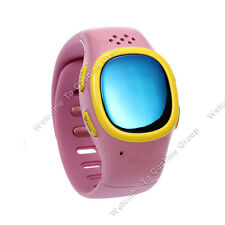 Soft Wrist band Dual GPS GSM Position Tracker Watch SOS MIC for Kids Children