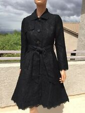 NEW Kate Spade Madison Ave Black Lace Trench Coat 4