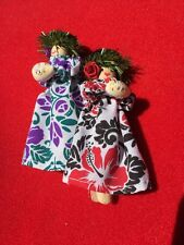 Antique HANDMADE Chinese Dolls Ornaments Made From Wooden Clothespin UNIQUE OOAK