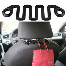 New Car Seat Hook Vehicle Headrest Black Hanger Bags Clothes Groceries Holder CI