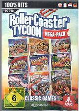 PC DVD Spiel RollerCoaster Tycoon 1-3 + Alle Add-ons Megapack Win 7/8/10 NEU