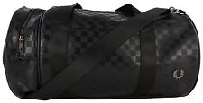 Fred Perry L1207 Checkerboard Barrel Bag Black