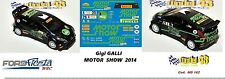 DECAL  1/43 -  FORD  FIESTA WRC  - G.GALLI  -  MOTOR SHOW 2014
