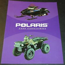 1999 POLARIS SNOWMOBILE & ATV COLLECTIBLES SALES BROCHURE NICE 4 PAGES