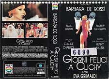 GIORNI FELICI A CLICHY (1990) vhs ex noleggio COMMEDIA DRAMMATICA