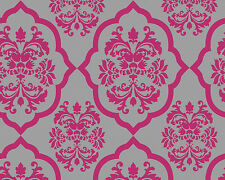 Vlies Tapete AS NAF NAF 95224-3 pink grau Ornamente Design Retro glänzend 952243