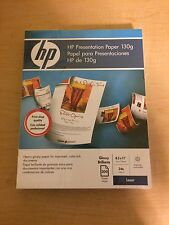 HP Q2546A 8.5x11 300-Sheet Laser Glossy Brillant Presentation Paper *Free Ship*