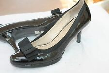 ADRIENNE VITTADINI SIZE 10 M  FORMAL EVENING BLACK TIE CLASSY PATENT SHOES PUMPS