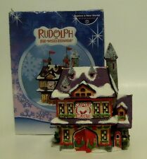 Retired Dept 56 Ceramic Rudolph Red Nosed Reindeer Santa's Castle LIGHT NIB 2005