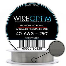 TEMCo Nichrome 60 series wire 36 Gauge 5000 Ft Resistance AWG ga