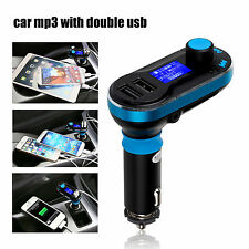 Dual 2 USB Car Charger Wireless Handsfree FM Transmitter AUX-IN  MP3 Player Kit