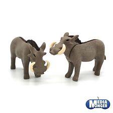 playmobil® Safari | Afrika | Oambati | Zoo: 1 x Warzenschwein | Schwein Pärchen