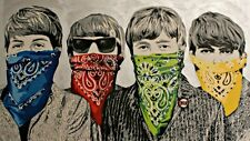 Beatles 24x36 poster Mr. Brainwash Lennon McCartney Ringo Harrison Music Art New