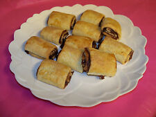 2 lb RUGELACH COOKIES,HOME MADE FROM SCRATCH,CHOCOLATE,CINNAMON,WALNUTS,RAISINS