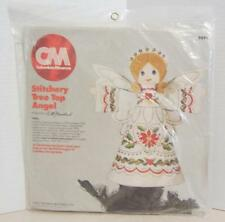 COLUMBIA MINERVA - HOLLY TREE TOP ANGEL -  FELT CREWEL EMBROIDERY KIT
