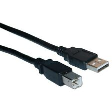 2 pack 12 inch 1ft Black USB 2.0 AB Short Device Cable
