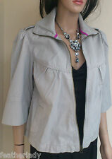 La Redoute pale GREY swing style RETRO 50s 60s 3/4 sleeve UK 12 EU 40 JACKET NEW