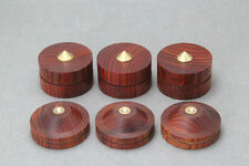 4PCS 43mm Rosewood Wooden Speaker Coppy Spike Isolation Cone Stand Foot Base Pad