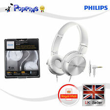 Philips SHL3065WT Headphones With Mic  32mm Drivers Closed-Back On-Ear WHITE