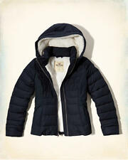 Abercrombie & Fitch – Hollister Womens Sherpa Lined Puffer Jacket XXS Navy NWT