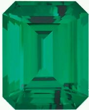 Chatham emerald octagon /emerald cut 7x5 nice cut and color
