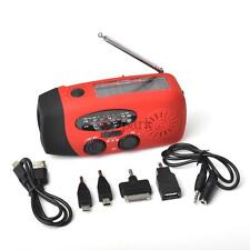 Solar Dynamo Powered Radio Hand Crank AM/FM/WB 3 LED Flashlight Phone Charger