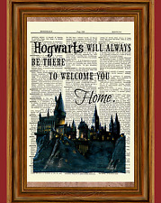 Hogwarts Castle Quote Dictionary Art Print Harry Potter Picture Poster Home