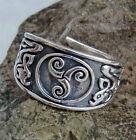 massiver Keltischer Ring Triskel 925 Sterlingsilber Gr.60-70 Keltenring Triskele