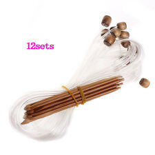 Afghan Tunisian Carbonized Bamboo Crochet Hooks 3.0-10.0mm N3