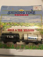 Thomas the Tank Train Milk and Tar Wagons  Shining Time Station 1992 Sealed