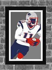 New England Patriots Julian Edelman Portrait Sports Print Art 11x17