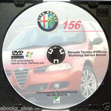 DVD MANUALE OFFICINA ALFA ROMEO 156 1.6-1.8-2.0 2.5-V6 1.9-2.4JTD 3.2-V6 2.0JTS