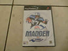play station 2 ps2 ps 2 playstation  madden 2001 nuovo brand new