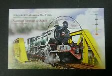 Malaysia Public Transport Train In Sabah 2015 Locomotive Railway (ms) MNH *odd