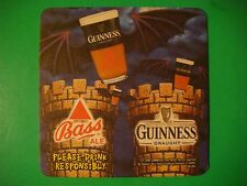 Beer Mat Coaster    Guinness    Cold Brewed Black Lager    A Lager Like No Other