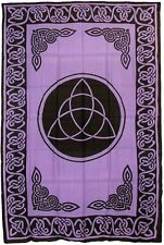 "Tapestry ""Triquetra (Charmed)"" Purple 72 x 108 - FREE PRIORITY SHIPPING"