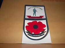 ARMY CATERING CORPS CAR WINDOW REMEMBERANCE STICKER.
