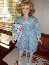 "Jeanne Singer 28"" tall porcelain doll ""Nancy"" Masterpiece Gallery w/coa 0258/100"
