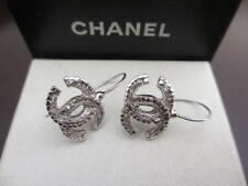 Authentic CHANEL CC hook pierced  earrings