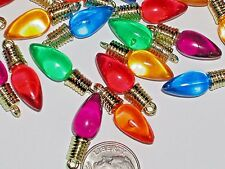 10 Lot Christmas Lights bulb charm beads craft findings *~