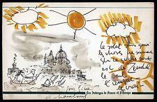 HAMBOURG André + ZENDEL Gabril hommage Foujita triple dessin (authentique)