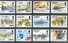 Jersey-d-day & libération ensemble de 12 mnh-world warii-spitfire-warships-troops