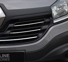 TO FIT RENAULT TRAFIC 2014+: CHROME FRONT GRILLE ACCENT TRIM SET COVERS 5PC