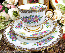 ROYAL ALBERT TEA CUP AND SAUCER CROWN CHINA ROSE MARIE TRIO TEACUP PATTERN