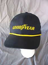 Swingster Goodyear Rubber Tires Blue Snapback Hat Cap Gold Cord Embroidered VTG