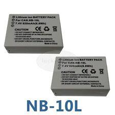 2X Battery for Canon NB-10L PowerShot G15 G16 SX50 SX60 HS SX40HS SX50HS