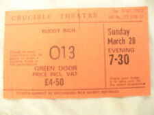 BUDDY RICH TICKET STUB March 28th CRUCIBLE THEATRE approx 1984