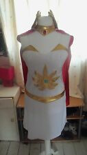 NEW SHE-RA COSTUME 14 16 18 SHE RA PRINCESS OF POWER HEAD PIECE CAPE CUFFS